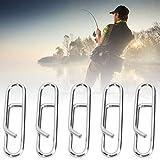 Redxiao Clip de Pasador Ovalado, L/S Liso Resistente a la corrosión 100PCS Pasador de Seguridad de Metal, para Pesca Salvaje, Muebles Diarios, Pesca...