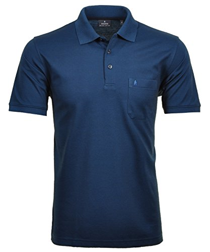 Ragman Herren Kurzarm Softknit Poloshirt , Dunkelblau , XL
