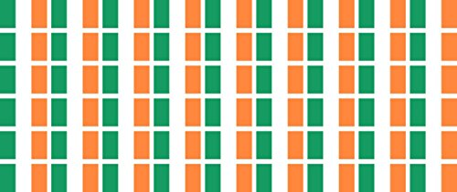 Mini Aufkleber Set - Pack glatt - 20x12mm - Sticker - Fahne - Irland - Flagge - Banner - Standarte fürs Auto, Büro, zu Hause & die Schule - 54 Stück