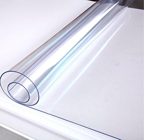 Coomas テーブルクロス テーブルマット PVC製 長方形 防水 汚れつきにくい (60*120, 透明(厚さ:1.5MM))