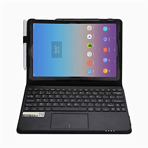 MQ para Galaxy Tab s410.5–Funda con teclado Bluetooth para Samsung Galaxy Tab s4lte sm-t835, WiFi sm-t830| Tab S4funda con teclado francés AZERTY, Touchpad (Touchpad) integrado en teclado