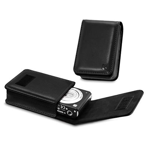 CAISON Kameratasche aus PU-Leder für Canon IXUS 285 HS 190 185 Sony Cyber-Shot DSC WX350 WX220 W830 W810 W800