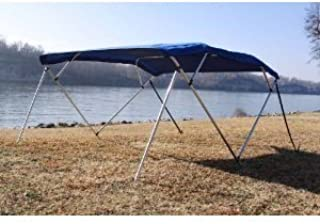 Vortex New Royal Blue Pontoon/Deck Boat 4 Bow Bimini Top 12' Long, 85-90 Wide, 54 High, Complete Kit, Frame, Canopy, and Hardware 1 to 4 Business Day DELIVERY