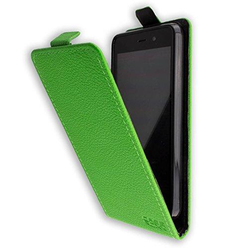caseroxx Flip Cover für Medion Life E4504 MD 99537, Tasche (Flip Cover in grün)