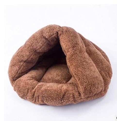 Cama para Perros de Felpa Suave y cálida Cama para Perros Cama para Dormir mullida sofá para Mascotas Perros pequeños y medianos de Varios tamaños -Color café_M-45 * 40 * 35