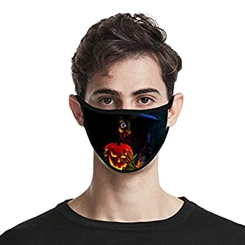 Halloween Angry Pumpkin Face Covering Women s Ice Silk Mouth Coverings Breathable Bandanas Earloop Unisex Washable Reusable Mouth Scarf Women Outdoor Activity Cycling Camping Working Face Accessories