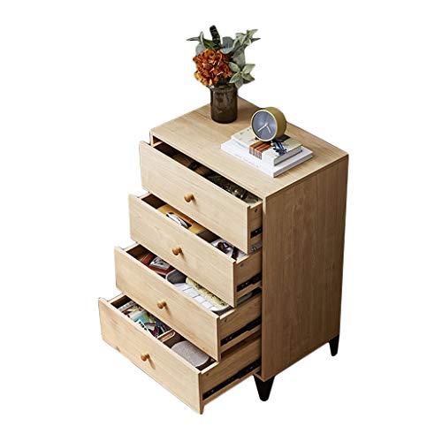 szy Commode Coffres De Tiroirs Simple Et Moderne Quatre Armoires De Tiroirs Séjour Commode Cabinet Petite Armoire De Rangement en Bois (Color : Beige, Size : 90 * 59 * 39cm)