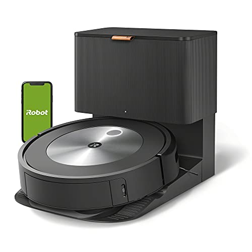 iRobot Roomba j7+ (7550) Self-Emptying Robot Vacuum – Identifiesand avoids obstacles like pet waste &cords, Empties itself for 60 days, SmartMapping, Works with Alexa, Ideal forPet Hair