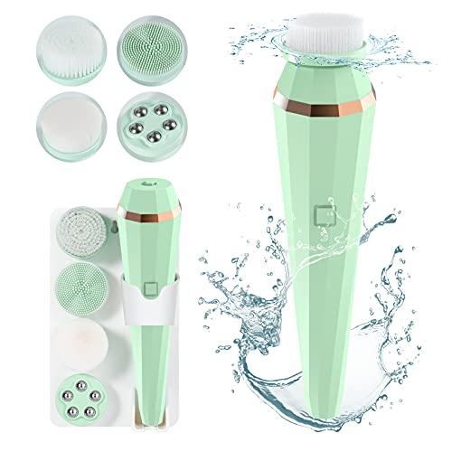 Gesichtsbürste, Elektrische Gesichtsreinigungsbürste Wandbehang 4 in 1 Wasserfest Gesicht bürste , Tiefenreinigung Sanfte hautpflege Mitesserentferner