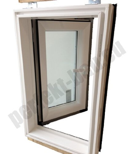 AFG Dachausstieg PVC Skylight Warmdach 45 x 73 mit Eindeckrahmen Dachausstiegsfenster Dachluke