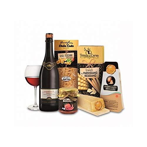 Confezione regalo Parmigiano Reggiano 'Sapori d'Italia', 5 articoli, idea regalo natalizia