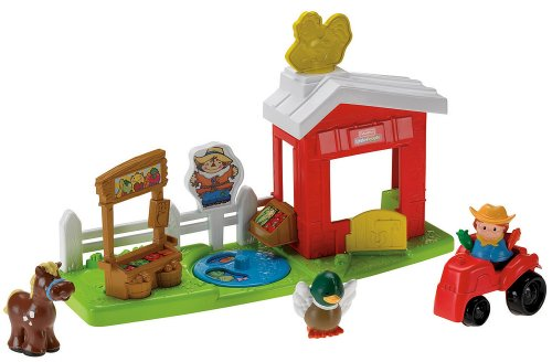 Mattel R6929-0 - Fisher-Price Little People Farm, mit viel Zubehör wie Tiere und Traktor