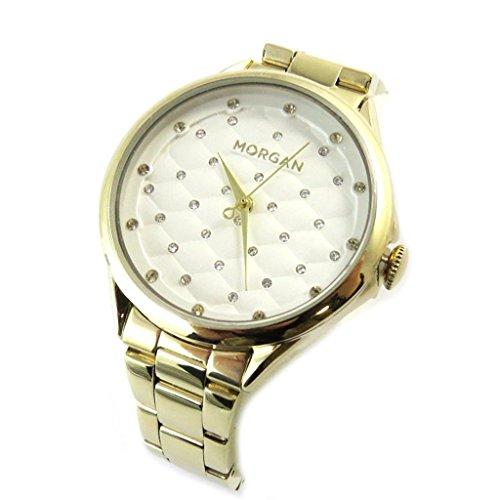 Morgan [N9863] - Designer-Uhr 'Morgan' Gold (Beleuchtung).