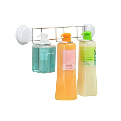 XUQIANG Shampoo Duschgel Handseife Rack Saugwand Badezimmer Regal Badregal