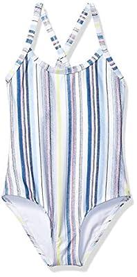 Splendid Girls' Big Rashguard and Swim Short Swimsuit Set, Line of Sight Blue, 8