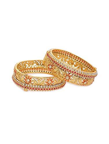 Indisches Kada Kundan Armreifen, Brautschmuck, traditionelles dickes Armband, Kada Armreif, indisches Schmuckset