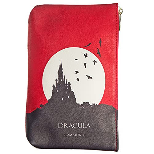 Dracula Book Themed Clutch Purse for Literary Lovers By Well Read Company - Wallets for Women - Book Readers Makeup bag - Stationery Bag