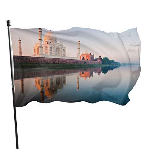 GOSMAO Bandera de 3x5 Ft Bandera de jardín Taj Mahal Bandera Decorativa para el hogar Bandera de Patrulla disuasoria