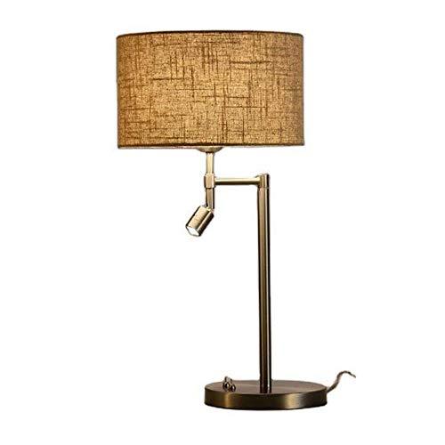 HtapsG Lámpara Escritorio Lámpara de Mesa de Noche para Dormitorio en casa lámpara de Mesa LED lámpara Moderna lámpara de Mesa de Tela para habitación de Hotel 30 * 60 cm