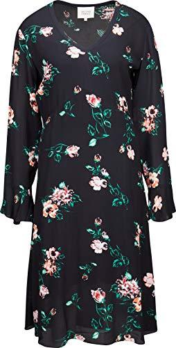 Second Female Damen Kleid in Schwarz mit Blütenprint M