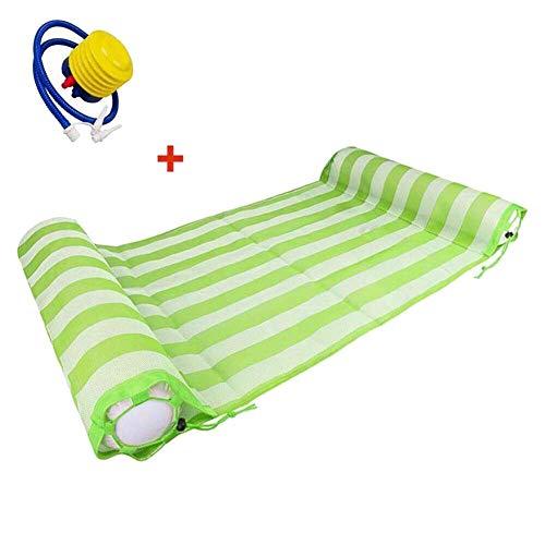 Acreny opblaasbare drijvende water hangmat Float Lounge Bed Zwembad Stoel met Pomp