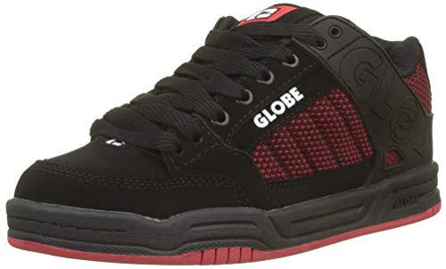 Globe Tilt-Kids, Scarpe da Fitness Unisex-Bambini, (Black/Red/Knit 000), 37 EU