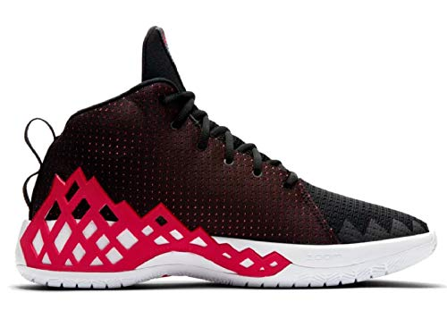 Nike Herren Jumpman Diamond Mid Basketballschuhe, Mehrfarbig (Black/University Red-White 006), 43 EU