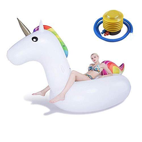 DJYD Piscina de natación Inflable Flotador Inflable Unicornio - Tumbona Piscina for Adultos de los niños 275X140X120CM FDWFN