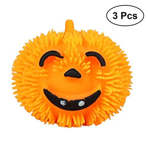 Amosfun Halloween kürbis Spielzeug glückliches Gesicht weiche Kugeln Partei liefert Dekoration 3 stück