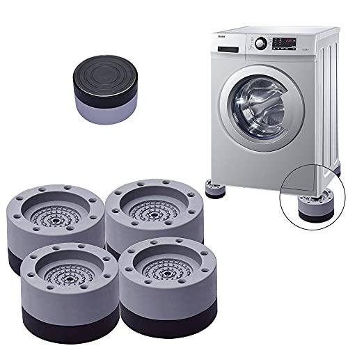 4 Stück Waschmaschine Fußpolster, Antivibrationsmatte, Anti-Vibrations-Waschmaschinenunterstützung,Vibrationsdämpfer,für Waschmaschinen Trockner Möbel Kühlschrank,Rutschfeste Und GeräUschreduzierende