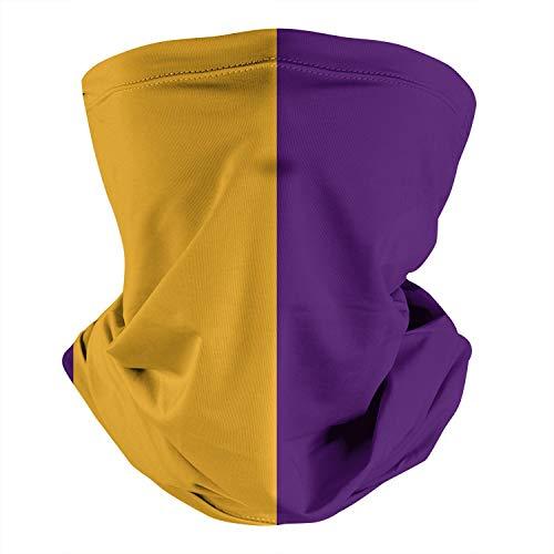 Bombline Los Angeles Purple Gold, Seamless Multifunction Tube Headwear,Neck Gaiter Mouth Cover for Wenmen Men for Festivals Running