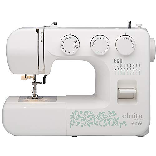 Elnita EM16 Mechanical Sewing Machine with 16 Stitches and Free Arm Convertible