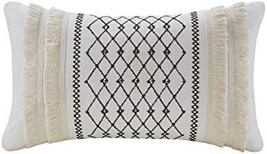 INK IVY Mid Century Modern Cotton Decorative Pillow Hypoallergenic Sofa Cushion Lumbar Back product image