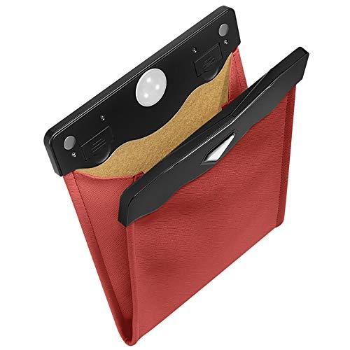 Cubo de basura para coche Organizador de basura para automóviles Bolsa de almacenamiento Accesorios Auto asiento trasero visera papelera papelera papelera sin contacto