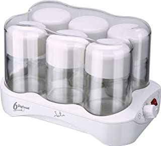 JATA PAE YG493 YOGURTERA 6 TARRINAS DE Cristal, 7500 W, 0.17 litros, Acero Inoxidable, plástico, Transparente, Color Blanco (B00742GUFG) | Amazon price tracker / tracking, Amazon price history charts, Amazon price watches, Amazon price drop alerts