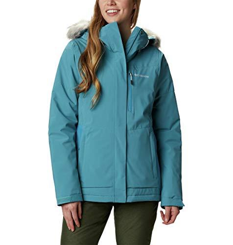Columbia AVA Alpine Insulated Chaqueta De Esquí con Capucha, Mujer, Azul (Canyon Blue/Fjord Blue), M