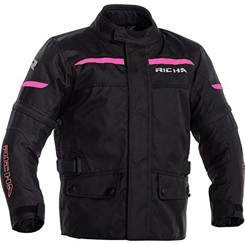Richa Motorradjacke mit Protektoren Motorrad Jacke TIPO Kinder Textiljacke pink 164, Tourer, Ganzjährig, Polyester