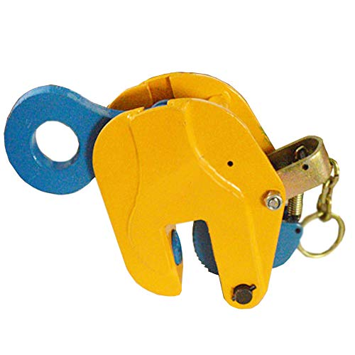 INTSUPERMAI 6616 Lbs Vertical Plate Lifting Clamp with Lock Hoist Hook Chain Steel Plate Clamp Sheet Metal Lifting Clamp Plate Lifting Clamp