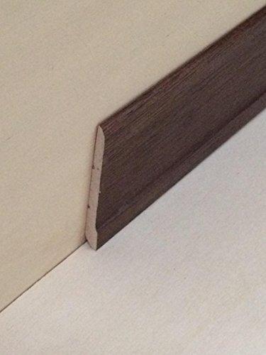 Battiscopa in legno massiccio di ramino tinto noce medio mm. 70x7 (prezzo per ml. 19,50)