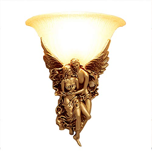 GYC Lámpara de Pared Retro Creativa Europea-Americana, luz de Noche de Resina de ángel, Pasillo, Sala de Estar, TV, Fondo, Pared, Dormitorio.