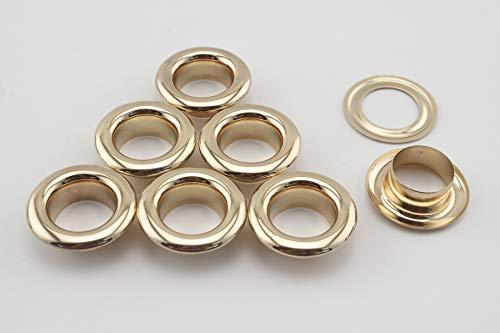 AB17 Lot de 40 œillets et rondelles en cuivre doré 14 mm