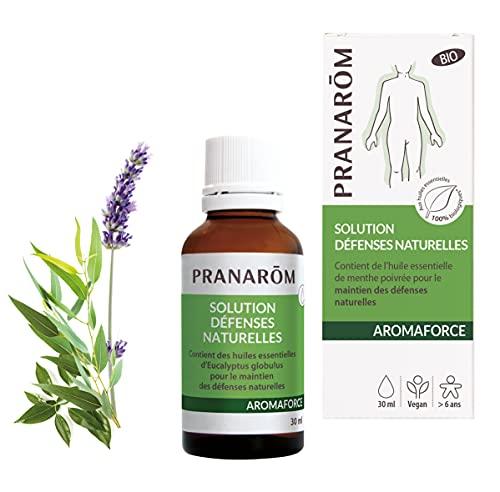 Pranarôm | Aromaforce | Solución de defensas naturales ecológicas con 10 aceites esenciales, desinfecta, saneamiento, mejora la inmunidad, 30 ml