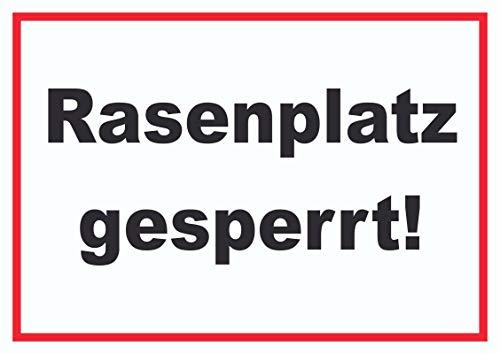 HB-Druck Rasenplatz gesperrt Schild A3 (297x420mm)