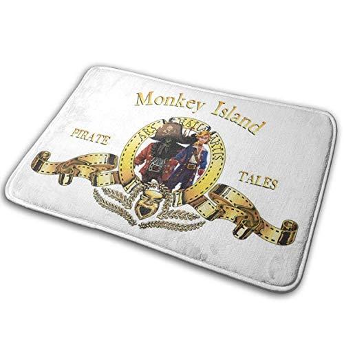 Monkey Island Metro Goldwyn Mayer Löwe Indoor Outdoor Teppich 40cmx60cm Haustür Mat wasserdichte, rutschfeste, waschbare, schnell absorbierende Feuchtigkeit