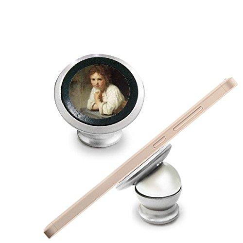 Maid Rembrandt Harmenszoon van Rijn célèbre Huile Panintings huiles magnétique support de téléphone de voiture support de tableau de bord pour téléphone portable 360 degrés de rotation
