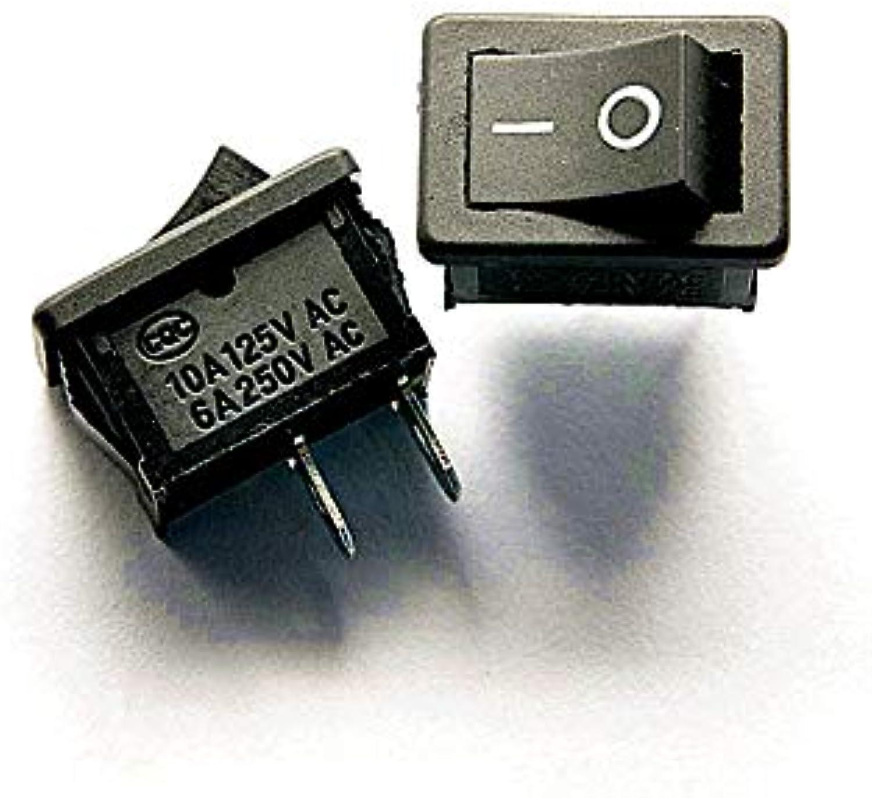 50PCS LOT Rocker Switch Rocker Power Switch KCD1101 Black 2 feet 2 Files 6A 250V