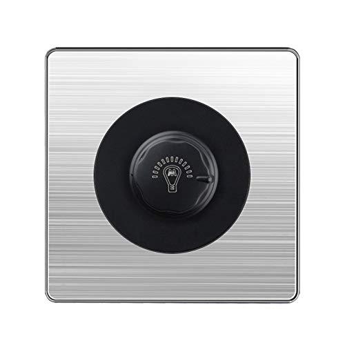 Interruptor Pared Interruptor de la perilla Brillo de la luz Ajuste de la velocidad Ajuste del interruptor del interruptor de la velocidad del interruptor de la pared Interruptor de la pared negro neg
