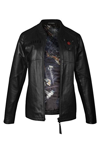 Musterbrand Star Wars Giacca in Pelle Donna Tie Pilot Limited Edition Nero 34 (XS)