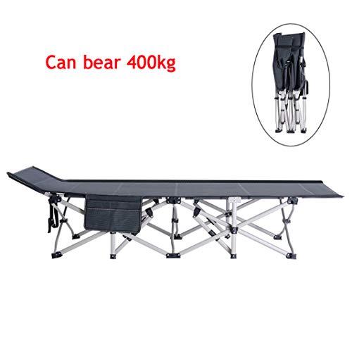 MSCHEN Tragbares klappbares Campingbett, kompaktes Schlafsofa für Erwachsene mit Aufbewahrungstasche, Starke Tragfähigkeit für die Reise, bis 400 kg Belastbar
