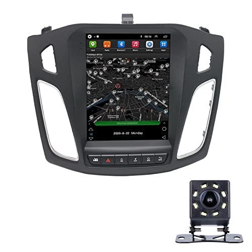 LWYJ Android 10.0 Coche Radio Estéreo para Ford Focus 2012-2018 Pantalla Táctil De 10 Pulgadas GPS Navegación WiFi Bluetooth USB Soporte Am FM SWC con Camara Trasera,2+32G
